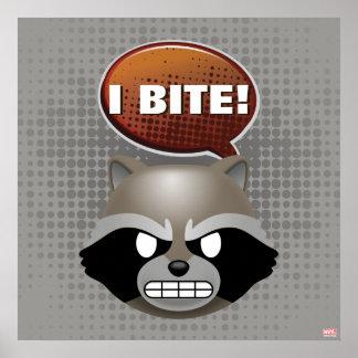 """""""I Bite"""" Rocket Emoji Poster"""