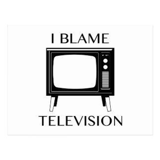 I Blame Television Postcard