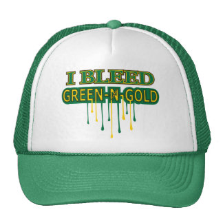 I Bleed Green 'n Gold Cap