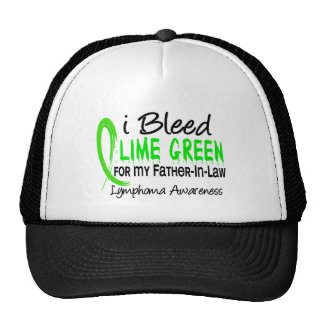I Bleed Lime Green For My Father-In-Law Lymphoma Cap