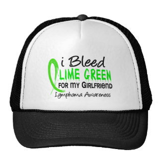 I Bleed Lime Green For My Girlfriend Lymphoma Cap