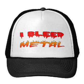 I Bleed Metal Hat