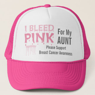 I Bleed Pink For My Aunt Breast Cancer Awareness Trucker Hat