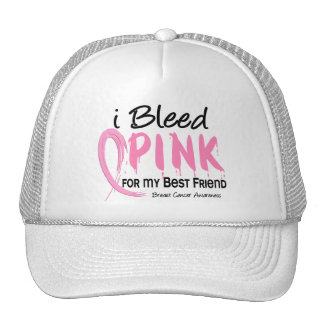 I Bleed Pink For My Best Friend Breast Cancer Mesh Hat