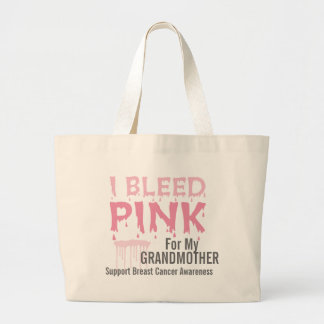 I Bleed Pink For My Grandmother Breast Cancer Jumbo Tote Bag