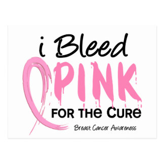 I Bleed Pink For My Patients Breast Cancer Postcards
