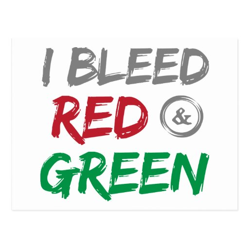 I Bleed Red and Green For Christmas Postcard