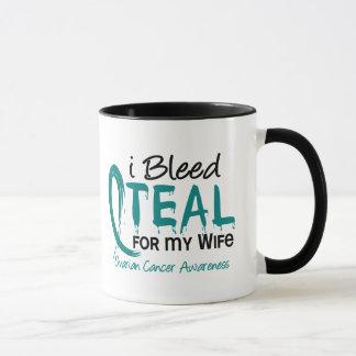 I Bleed Teal For My Wife Ovarian Cancer Mug