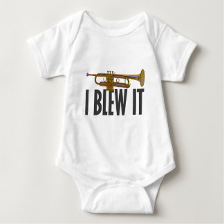 I Blew It Trumpet Baby Bodysuit