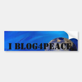 I Blog4Peace Bumper Sticker