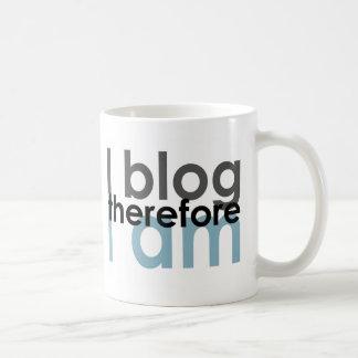 I blog therefore I am Coffee Mug