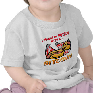 I Bought My Hotdog With a Bitcoin T Shirt