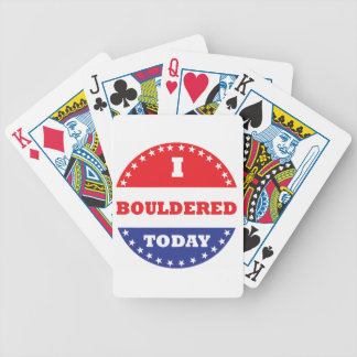I Bouldered Today Bicycle Playing Cards