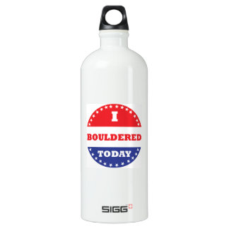 I Bouldered Today Water Bottle