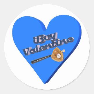 I Boy Valentine T-shirts and Gifts Round Sticker