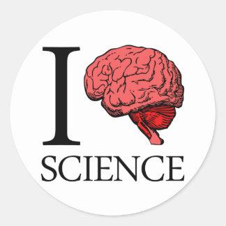 I Brain Science (I Know science) (I Love Science). Round Sticker