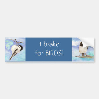 I brake for Birds - Birding Bumper Sticker
