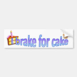 I brake for cake bumper sticker