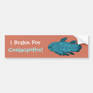 I Brake for Coelacanths! Bumper Sticker