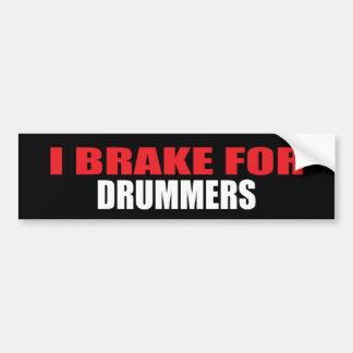 I Brake For Drummers Bumper Sticker