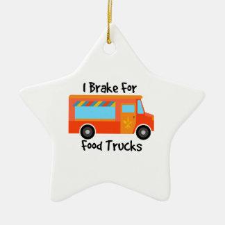 I Brake For Foof Trucks Ceramic Ornament