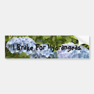 I Brake For Hydrangeas Bumper Sticker