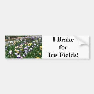 I Brake for Iris Fields! Bumper Sticker
