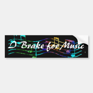 I Brake for Music Bumper Sticker