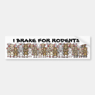 I Brake For Rodents bumper sticker