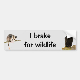 I Brake for Wildlife bumper sticker