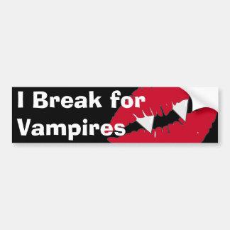I break for Vampires Bumper Sticker