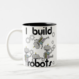 I Build Robots Two-Tone Coffee Mug