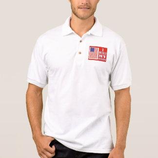 I Built My Business Political US Flag Polo T-shirt
