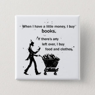 I Buy Books 15 Cm Square Badge