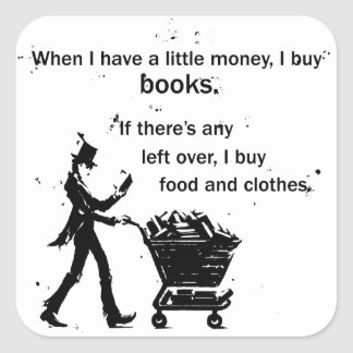 I Buy Books Square Sticker