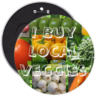 I Buy Local Veggies 6 Cm Round Badge