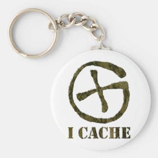 I CACHE keychain
