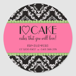 I ♥ Cake Business Stickers