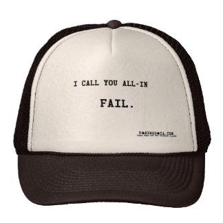 I call you all in  FAIL poker holdem Cap