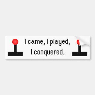 I Came I Played Bumper Sticker