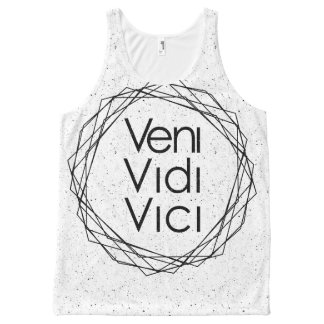 "I Came, I Saw, I Conquered ""Veni, Vidi, Vici"" All-Over Print Tank Top"