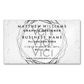 """I Came, I Saw, I Conquered """"Veni, Vidi, Vici"""" Magnetic Business Cards"""