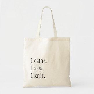 I came. I saw. I knit. Tote Bag