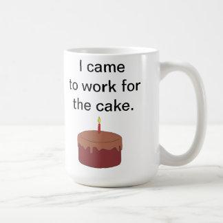 I Came To Work For The Cake Basic White Mug