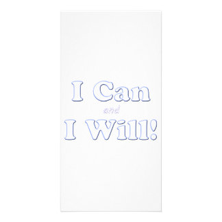 I Can and I Will Customised Photo Card