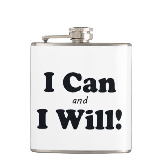 I Can and I Will Hip Flask