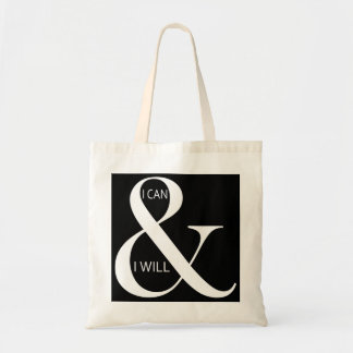 I Can and I Will Motivational Budget Tote Bag