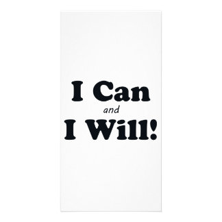 I Can and I Will Photo Card Template
