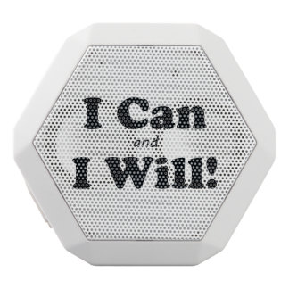 I Can and I Will White Bluetooth Speaker