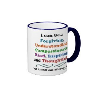 I can be Forgiving Ringer Mug